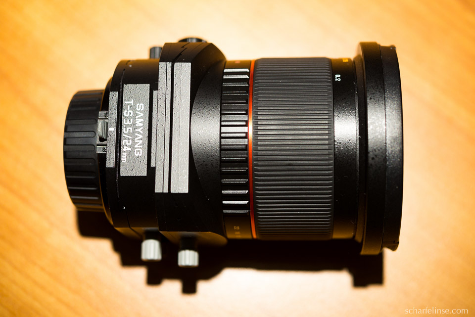 Das Samyang (Walimex) TS 3.5 / 24mm.